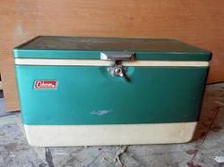 Coleman Metal Cooler - vintage
