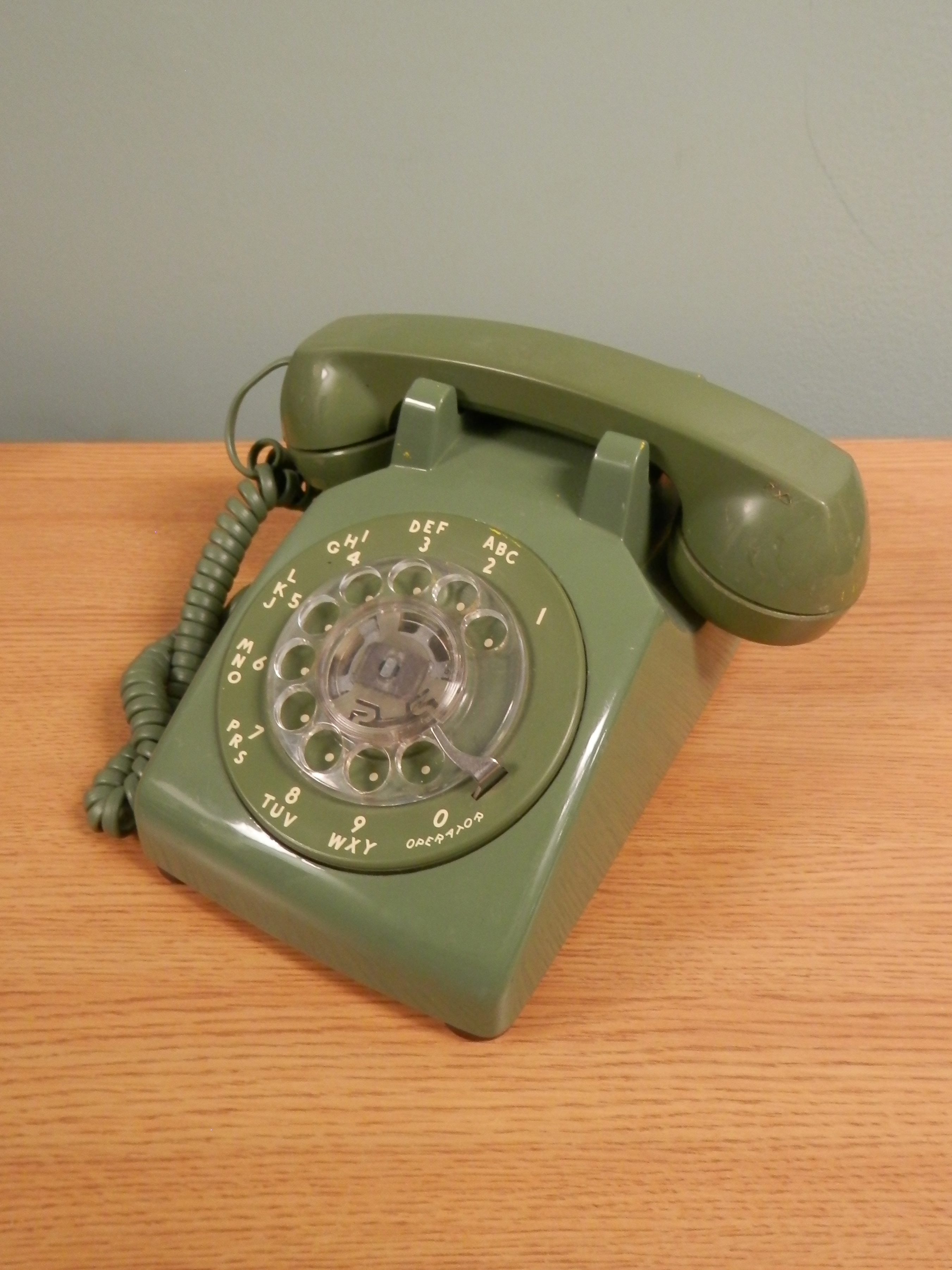 Rotary Telephones olive green