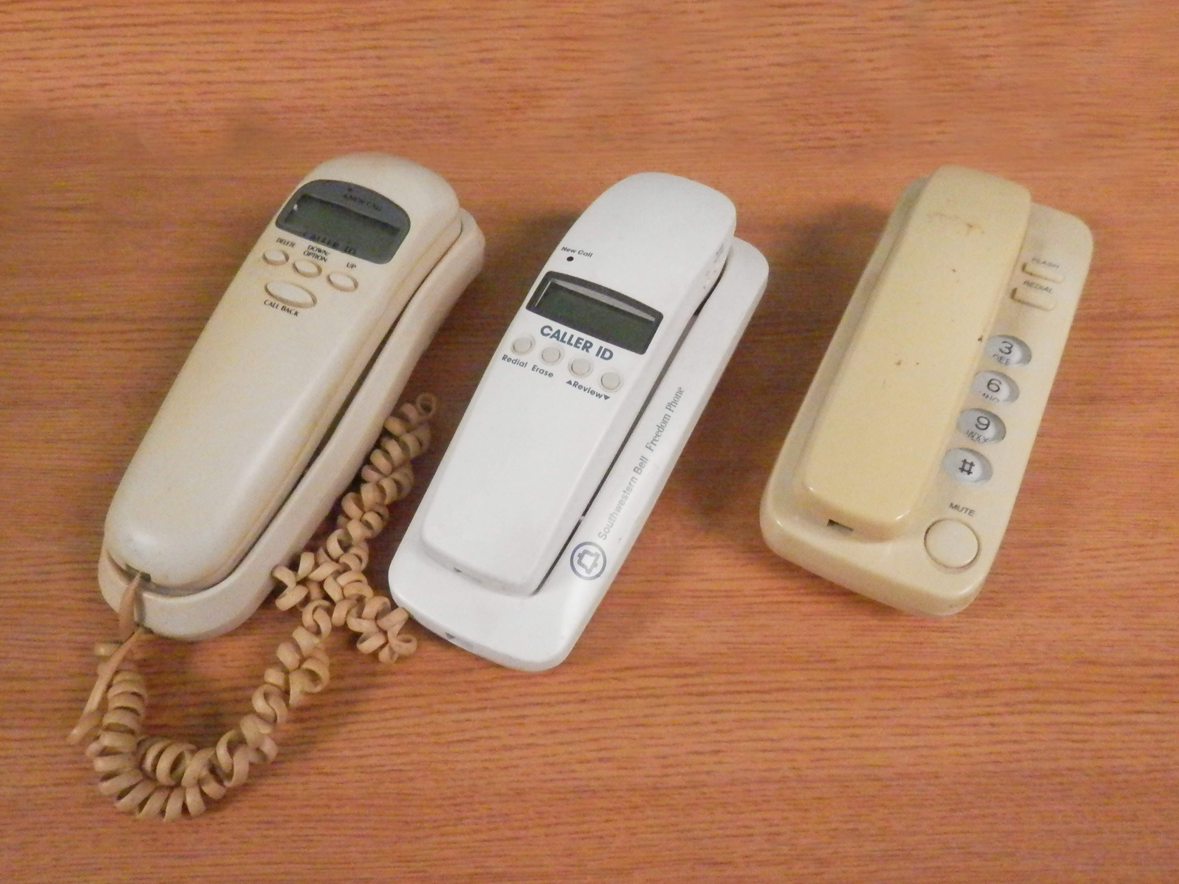 Wall Phone Units beige white
