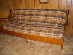 70's Maple Plaid Brown Sofa