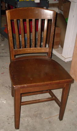 Wood Banker Side Chairs
