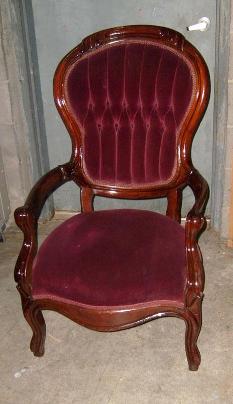 Victorian chair plum restored
