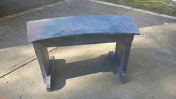 Faux Stone Bench - Curved