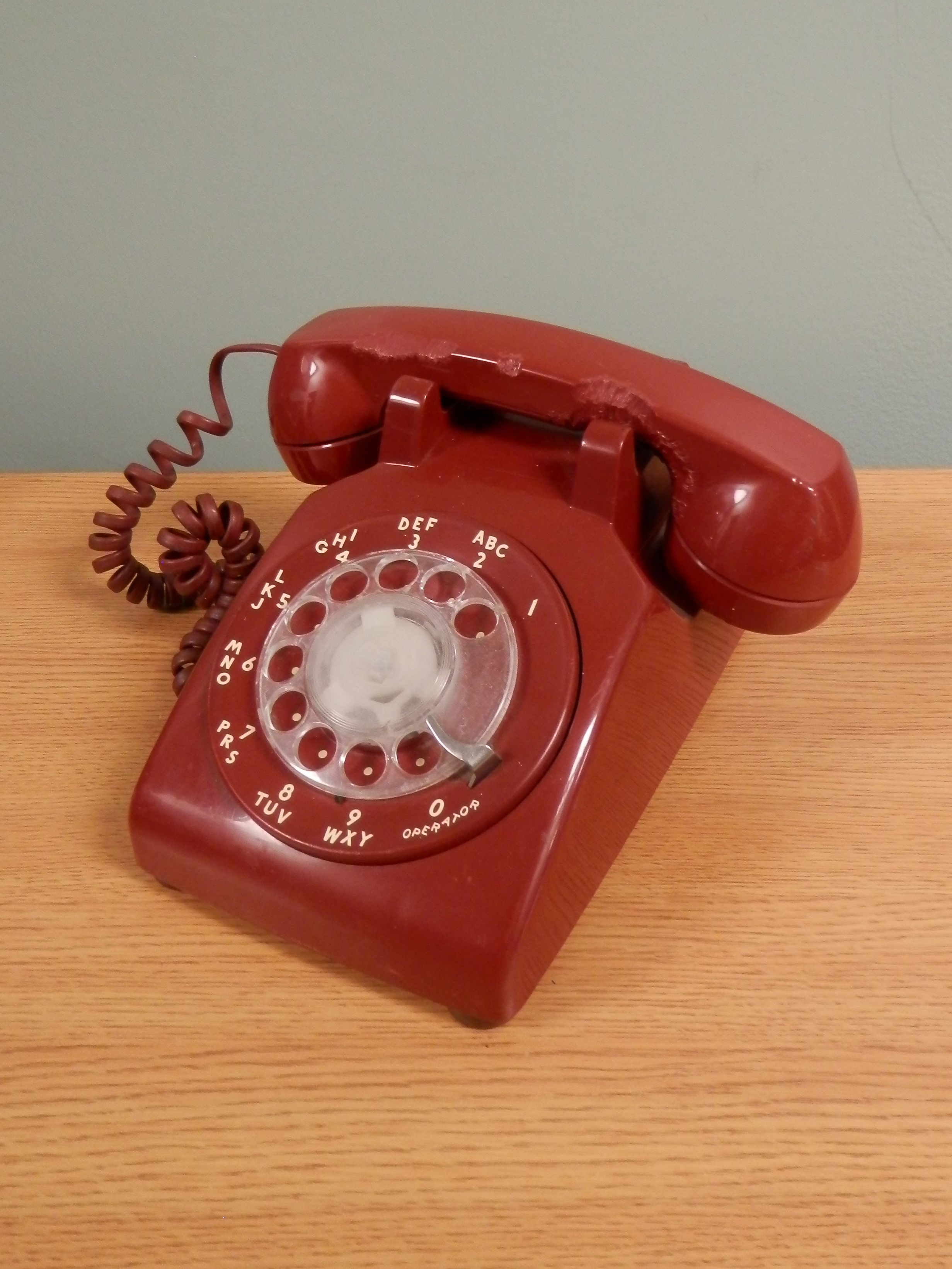 Rotary Telephone red