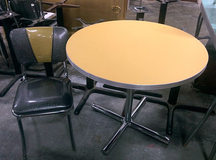 Yellow Round Diner Tables