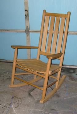 Wood Slat Rocking Chair