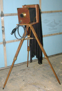 1920 Large Format Camera on Tripod