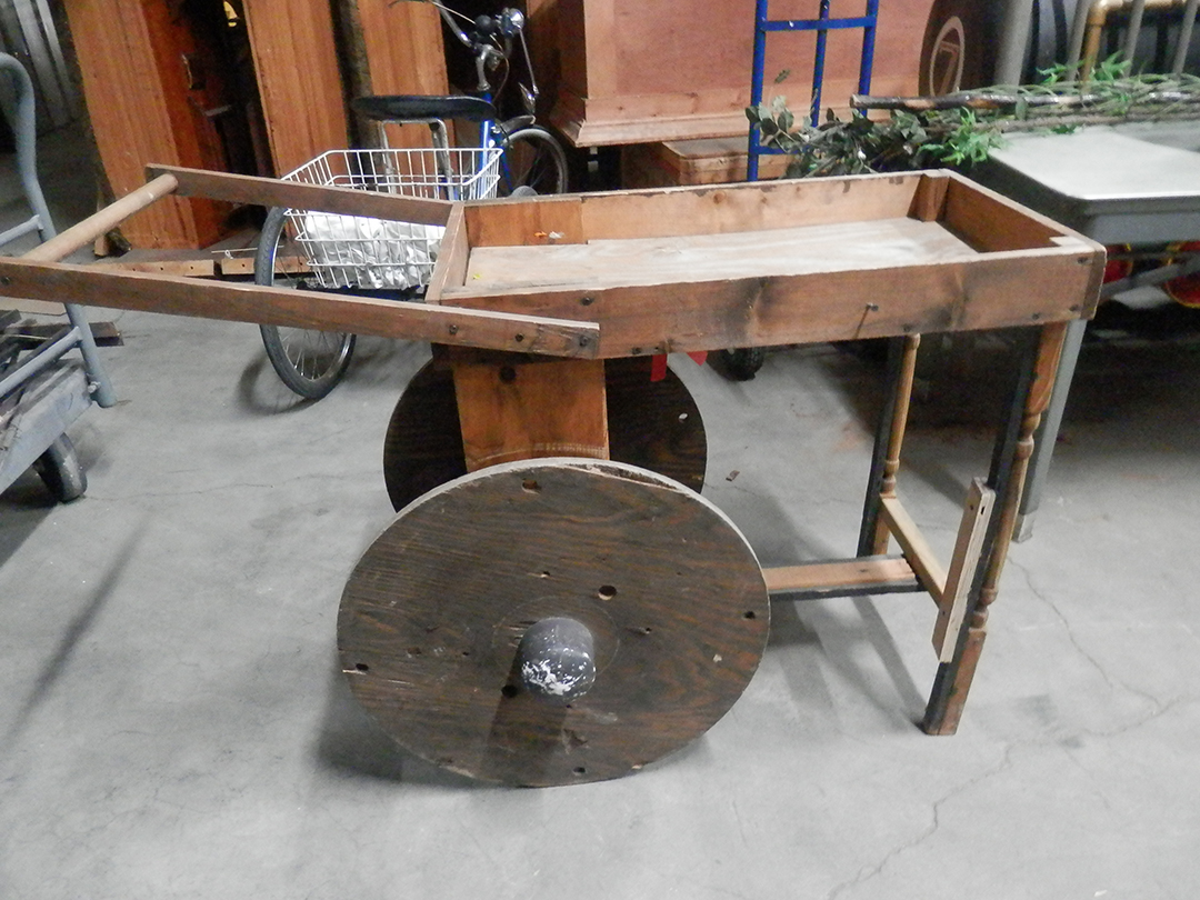 Wood Push Cart