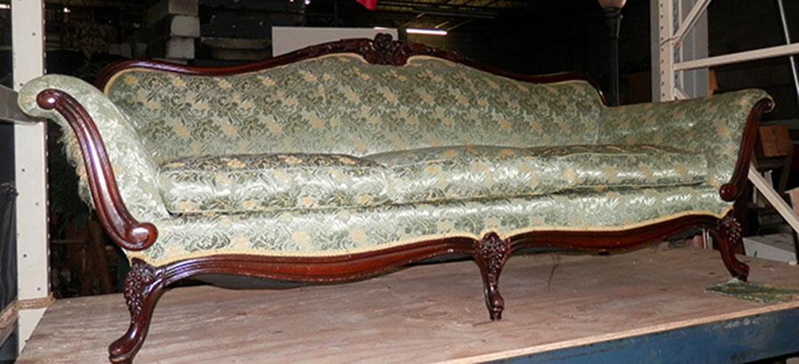 Green Floral Sofa