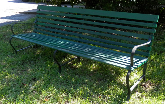 Bench vintage wood slat 6ft
