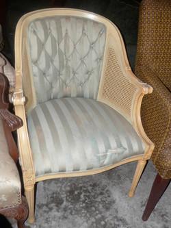 Chair teal striped 37x28x27