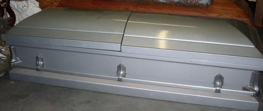 Gray Split Top Coffin