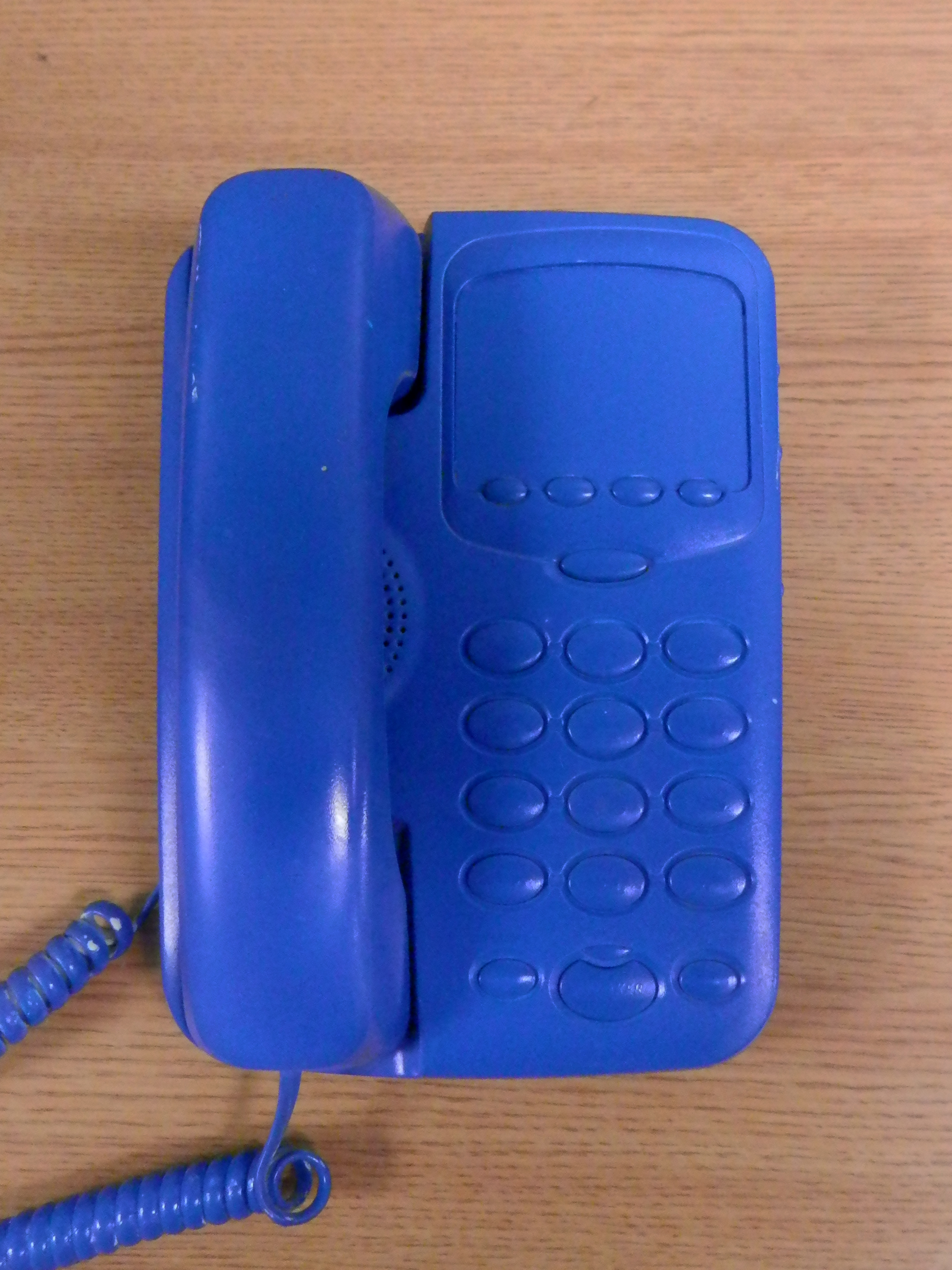 Corded Phone - painted blue