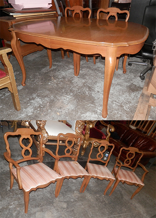 Dining Table and 6 Chairs - 60in x 42 -