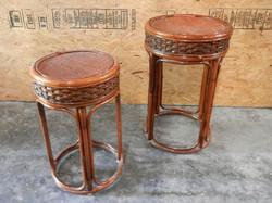 Wicker Side Nesting Table