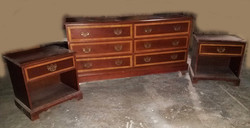 Bedroom Chest and Night Table Set 80s