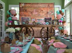 Wagon Buffet Table