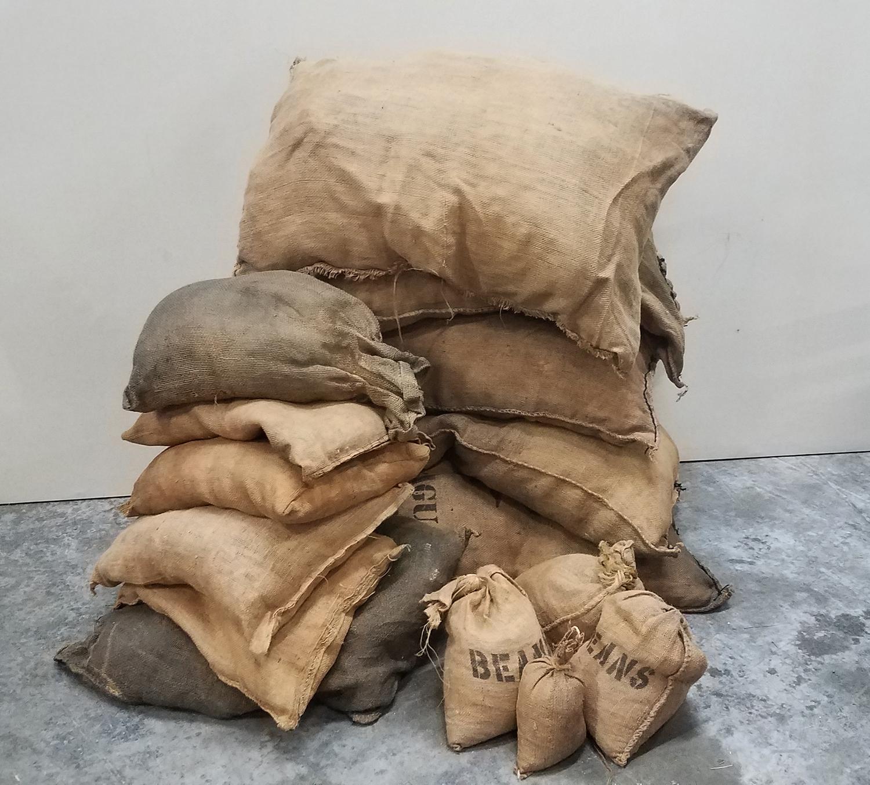 Burlap Bags of Stores