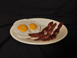 Breakfast - Fried Eggs and Bacon