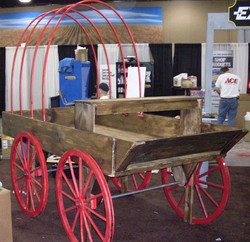 Buckboard Wagon with Hoops