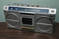 Silver Boombox