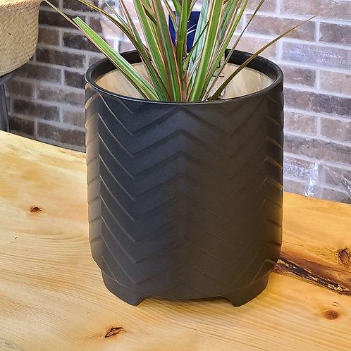 8in black mate ceramic