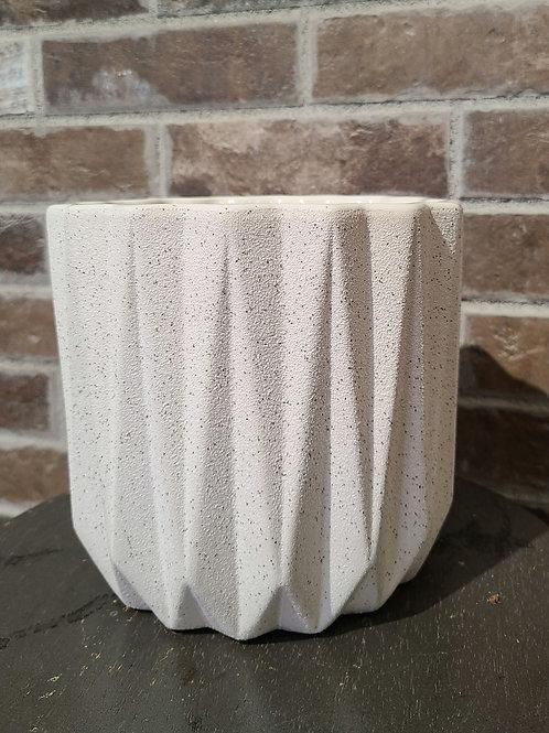 "6"" white sand planter"