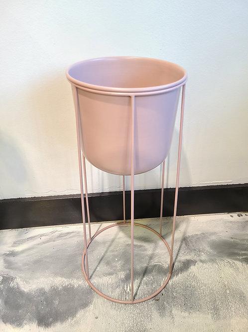 Pink blush high planter