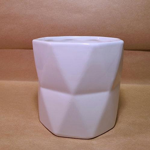 """4"""" white semi gloss Ceramic Planter"""