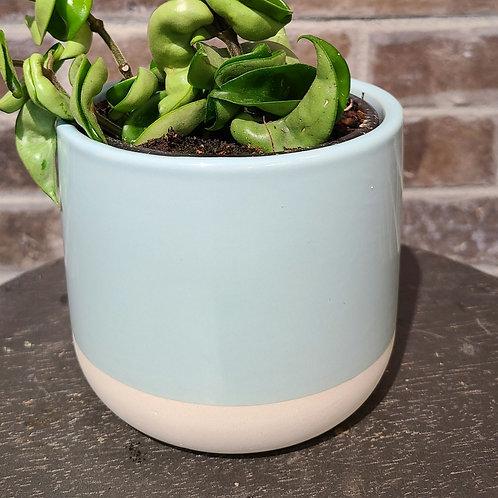 4in baby blue Ceramic planter