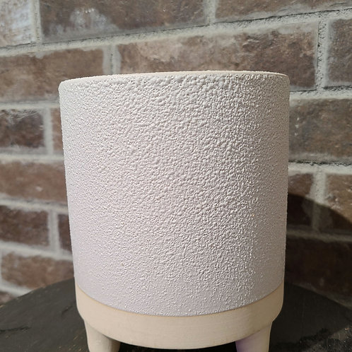 """5.5"""" white footed planter"""