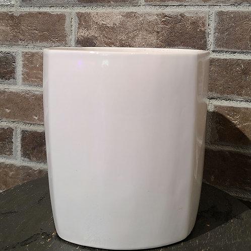 "6"" ceramic white planter"