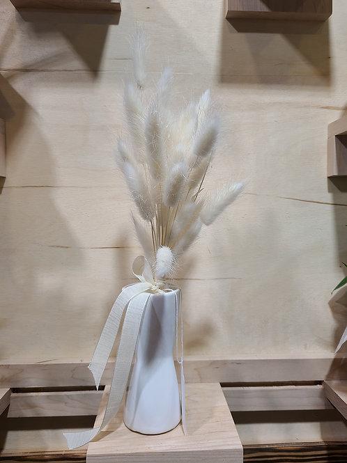 Dried Lagurus Grass + vase