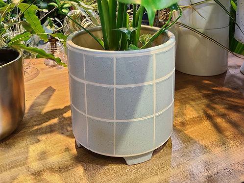8 in Ceramic planter light blue 💙