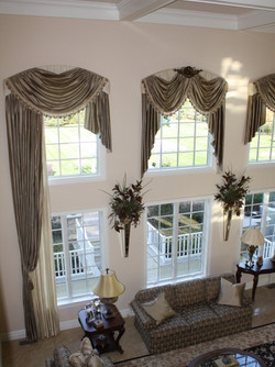 custom window treatments living-room