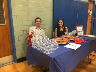 Bill Cole and Lei-Han Hong at Sussex Avenue School's Back to School Night.
