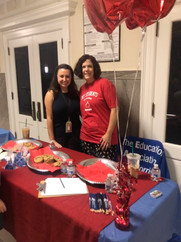 Renee Waggner and Deirdre Falk at Alexander Hamilton's Back to School Night.