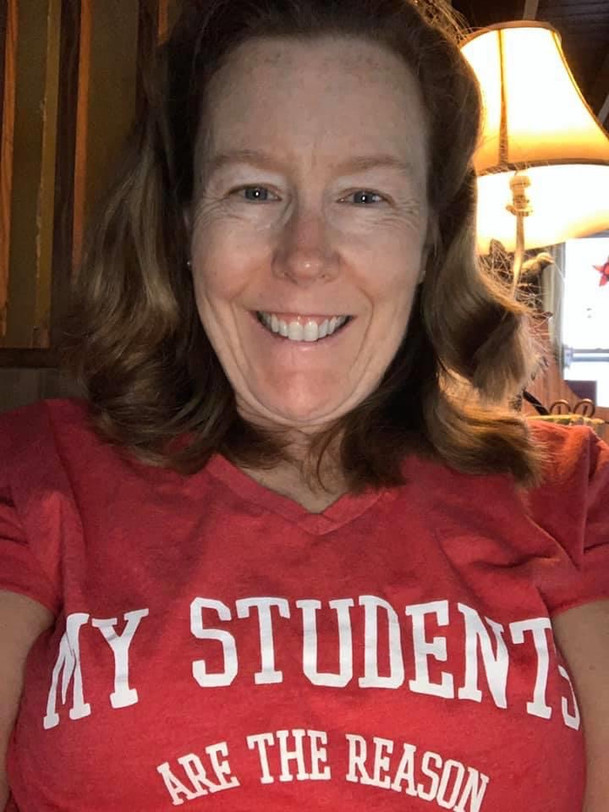 Showing #REDforED pride during this time of virtual instruction!