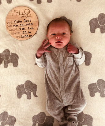 Our very own TEAM IPD Chair, Lindsay Henry, and her husband, are excited to announce the birth of their son, Colin Paul. He arrived November 15, 2020 at 11:58pm!  Weighing 8lbs 1 oz and measuring 21 inches long. Welcome to the TEAM family, Colin!