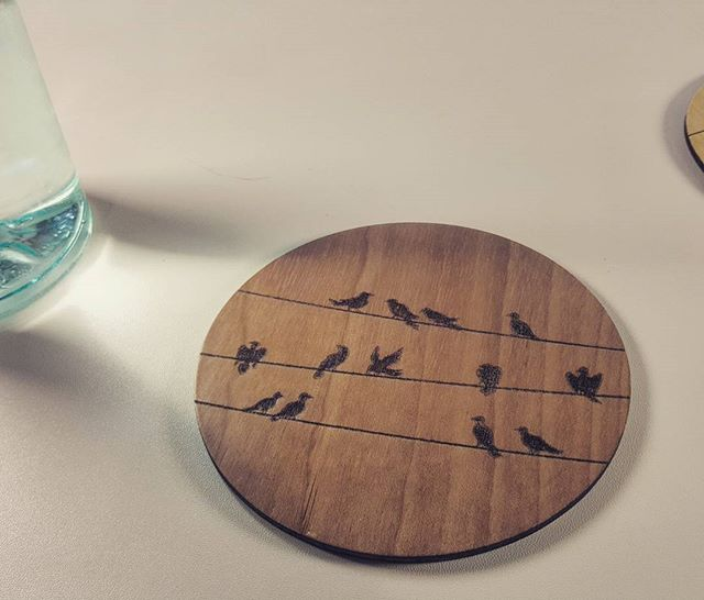Fancy coaster designed by our client__#coaster_#desain_#design_#fancy_#wood_#lasercut_#laser_#redfen