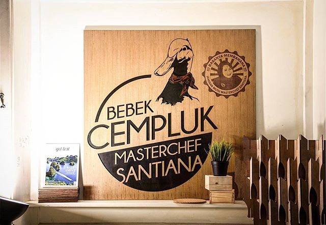 Proudly present. Bebek cempluk logo, specially customized for miss Santiana