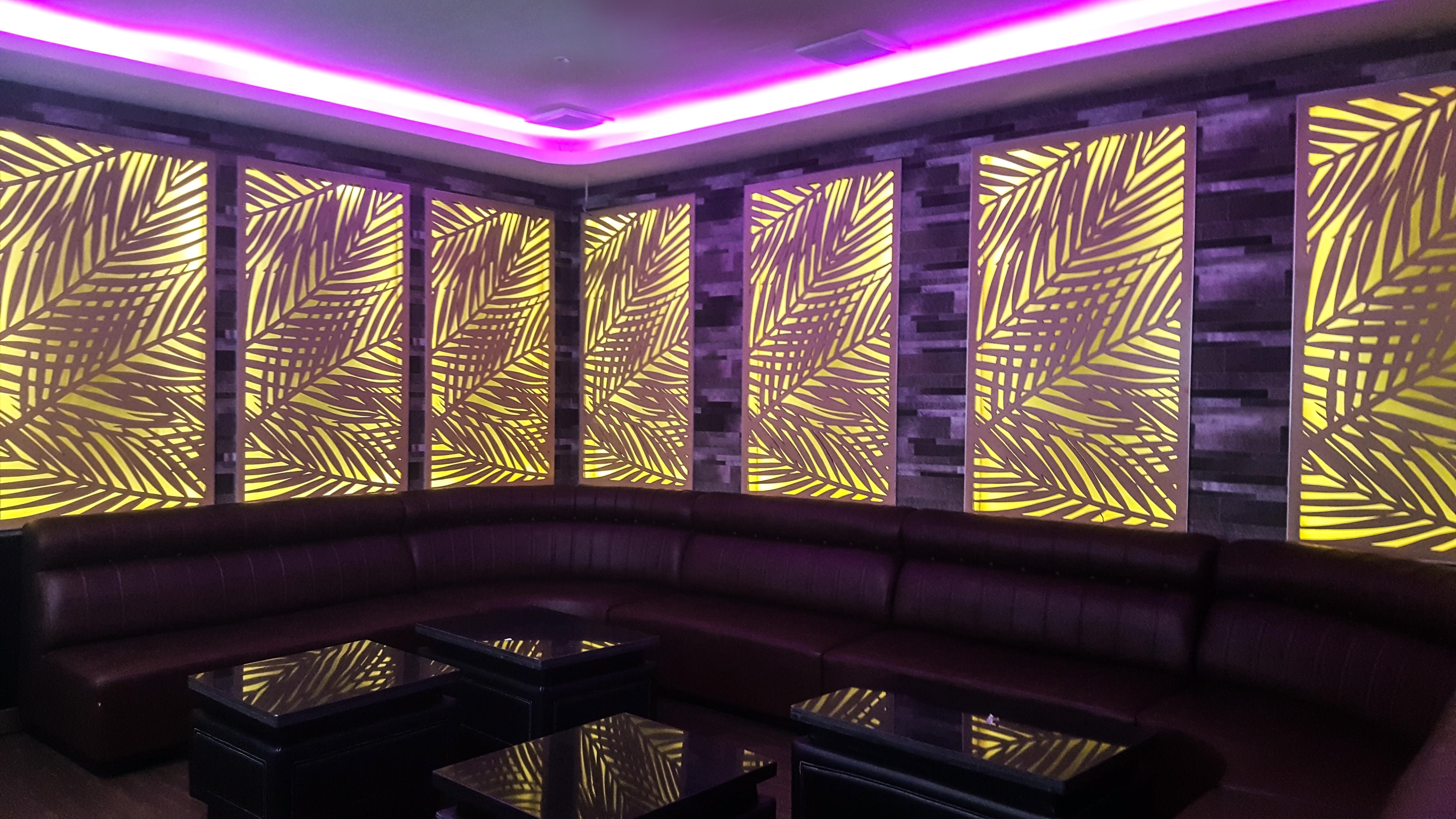 laser cutting motif daun