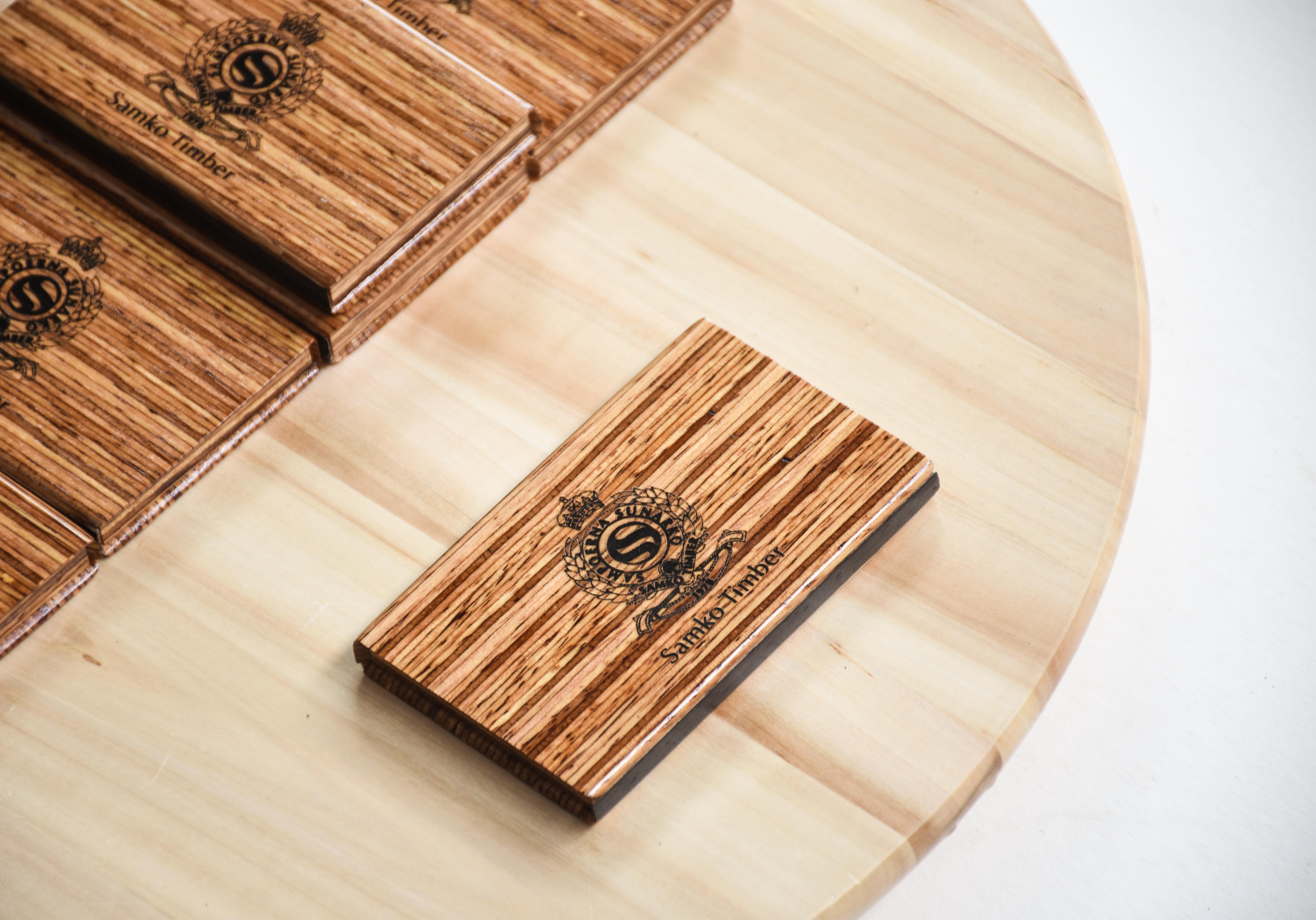 Samko Timber Engraved Businesscard