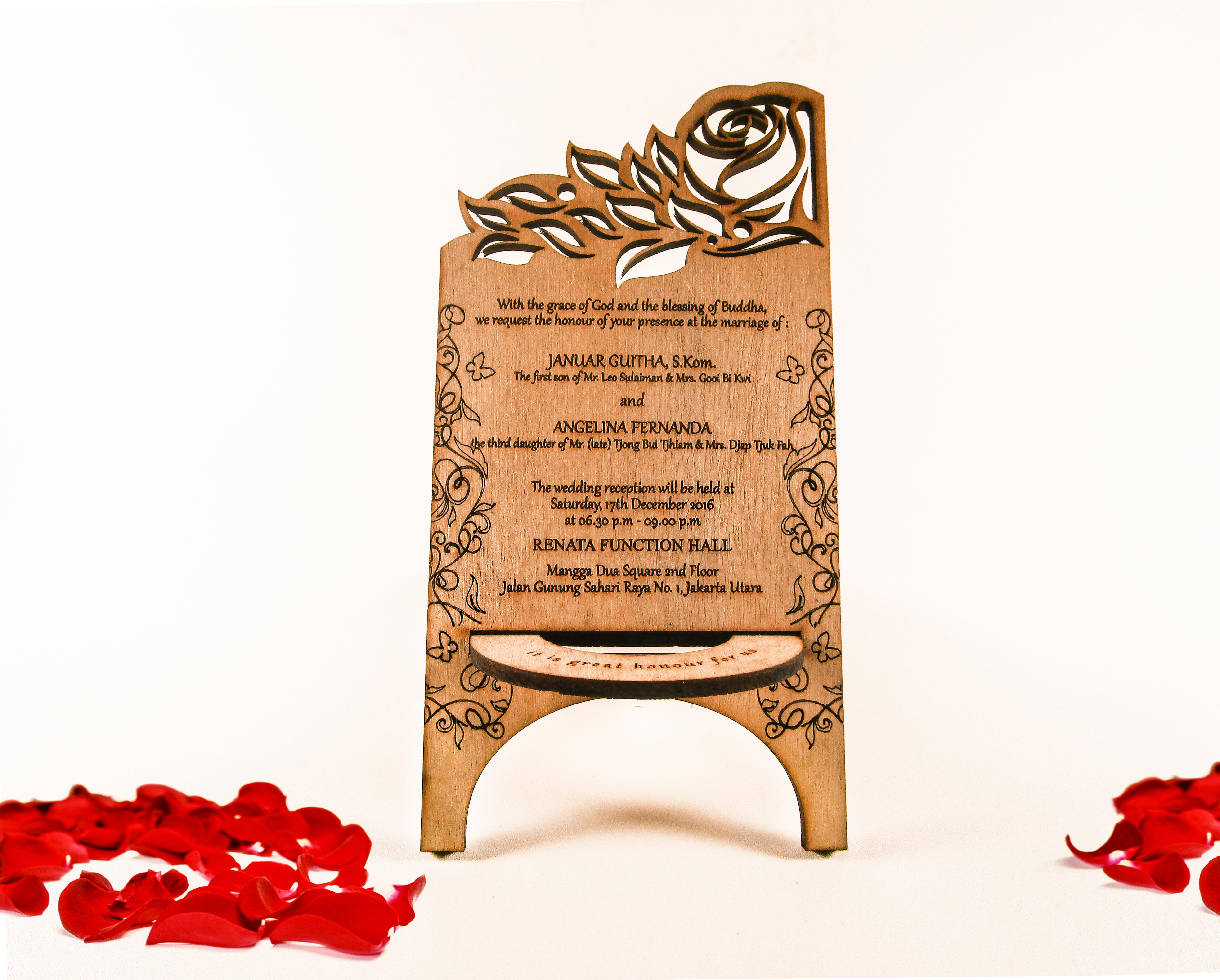 Invitation & Souvenir Wedding Wood