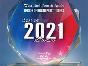 West End Foot & Ankle Receives 2021 Best of Henrico Award