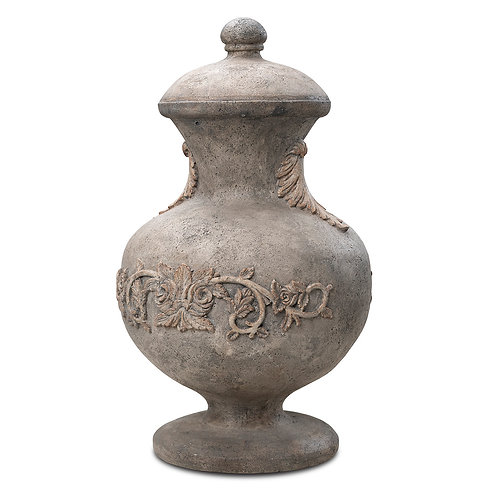 ENGLISH URN WITH ROSES 20""