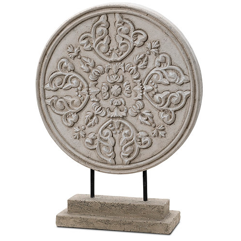Ornamental Carved Rosetta Disc Indoor Decor Pinatubo Volcanic Ash Southeast Metro Arts Inc.