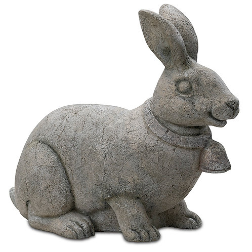 Farm House Rabbit With Bell Outdoor Garden Decor Pinatubo Volcanic Ash Southeast Metro Arts Inc.