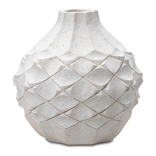 Scalloped Vase ( Medium ) Indoor Decor Pinatubo Volcanic Ash Southeast Metro Arts Inc