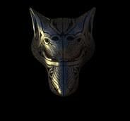 Wolf brooch design